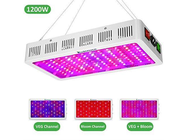Exlenvce 1500W 1200W 600W LED Grow Light Full Spectrum for Indoor Plants  Veg and Flowerled Plant Growing Light Fixtures with Daisy Chain Function