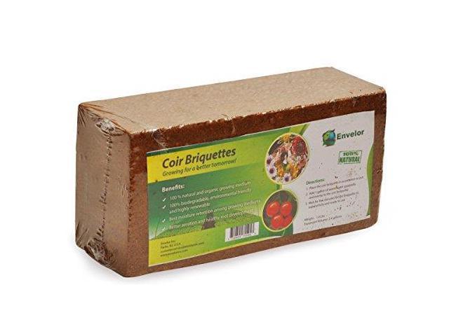 Envelor Home and Garden Organic Coco Coir Growing Medium Coconut Fiber  Potting Coco Fiber Mulch Coco Briquette 15 lb Coir Briquette - Newegg com