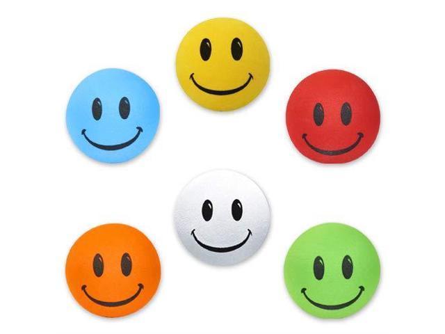 HappyBalls Assorted Happy Smiley Face Car Antenna ToppersAntenna BallsRear  View Mirror DanglersAuto AccessoriesDesktop Buddies Red Yellow Orange Blue