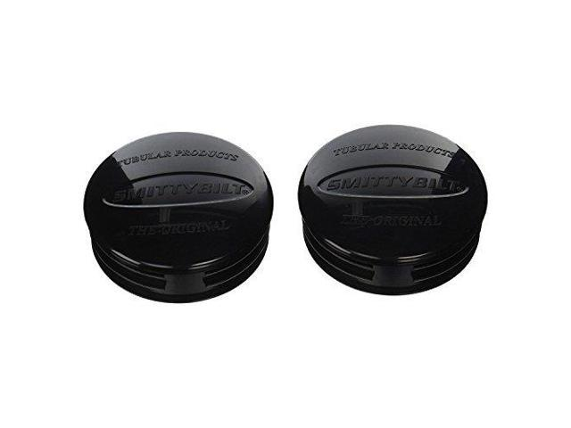 """SmittyBilt TA25 Black Pair Replacement End Caps For SmittyBilt 3/"""" Tube Bumpers"""