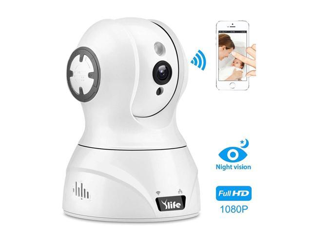 Ylife Video Baby Monitor, Wireless IP Security Camera 1080P HD  Pan/Tilt/Zoom Pet Camera, Surveillance Dome Camera with 2-Way Audio, Night  Vision,