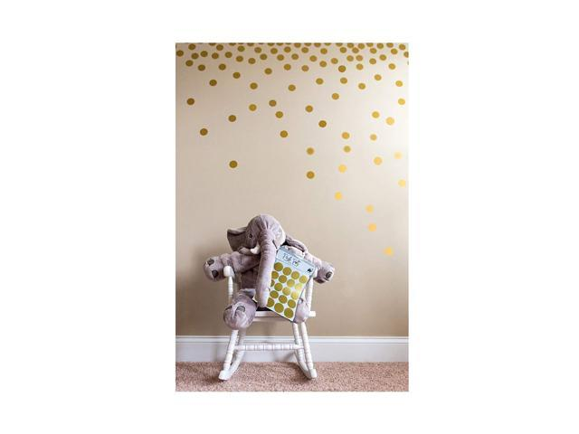 Posh Dots Metallic Gold Circle Wall Decal Stickers for Festive Baby Nursery  Kids Room Trendy Cute Fun (200 Decals) Vinyl Removable Round Polka Dot