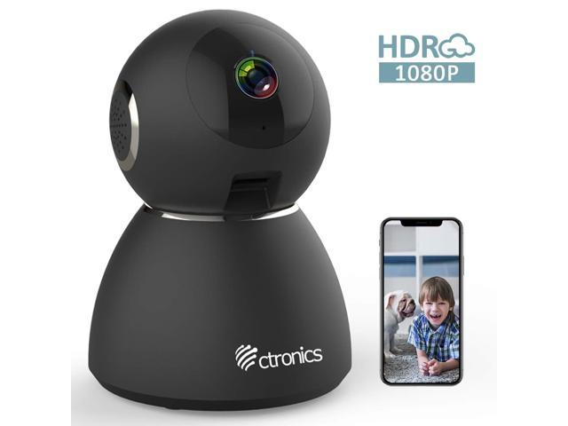 25fps 1080P HDR WiFi Security Camera Indoor, Ctronics IP Security Camera  with Upgraded Night Vision, Motion & Sound Detection, Two-Way Audio,