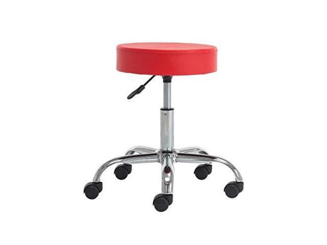 Pleasing Rolling Stool Chair Height Adjustable Pu Leather Cover Cushion Office Desk Chair Black Newegg Com Pabps2019 Chair Design Images Pabps2019Com