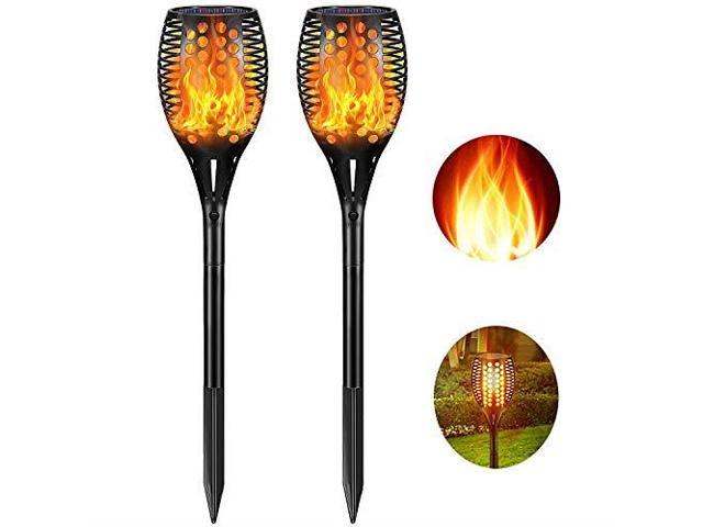 Solar Lights Upgraded Outdoor Waterproof Flickering Flames Torches Lights  Solar Spotlights Landscape Decoration Lighting Dusk to Dawn Auto OnOff  Torch