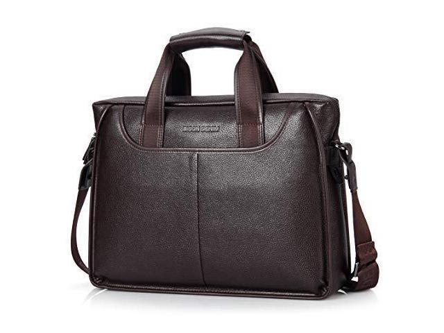 Mens Briefcase Leather Business Work Bag 14 Inch Laptop Messenger Iaptop Handbag For Men Newegg