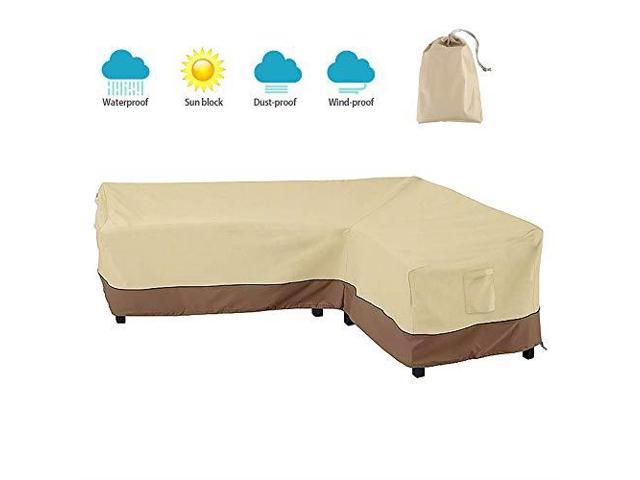 Marvelous Patio Sectional Furniture Cover 420D Lshaped Outdoor Sofa Cover Waterproof Garden Couch Protector Left Facing Newegg Com Theyellowbook Wood Chair Design Ideas Theyellowbookinfo