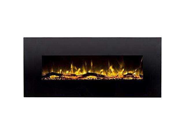 Excellent Denali Black 60 Log Pebble Crystal 3 Color Heater Electric Beutiful Home Inspiration Ommitmahrainfo