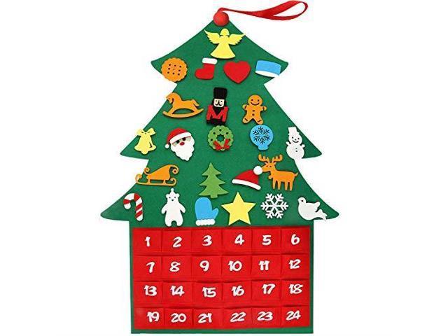 2019 Newest Felt Christmas Tree Ornaments Advent Calendar