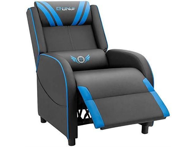 Enjoyable Gaming Recliner Chair Pu Leather Single Recliner Sofa Adjustable Modern Living Room Recliners Home Theater Recliner Seat Blue Newegg Com Dailytribune Chair Design For Home Dailytribuneorg