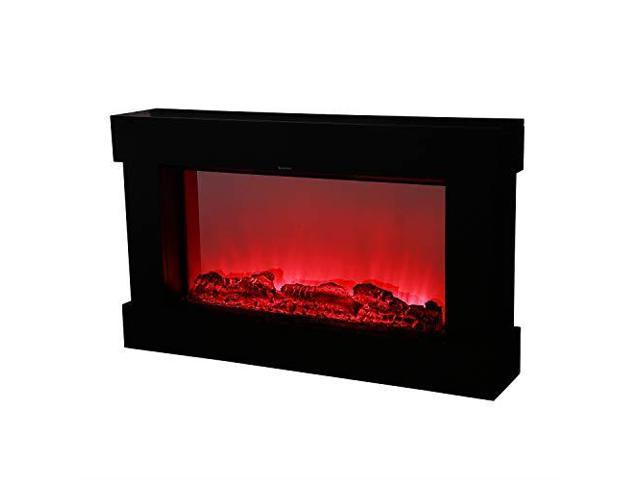 Electric Fireplace Heater 3 Element 1500W PortableInfrared Quartz Space  Heater Remote Control Black - Newegg com