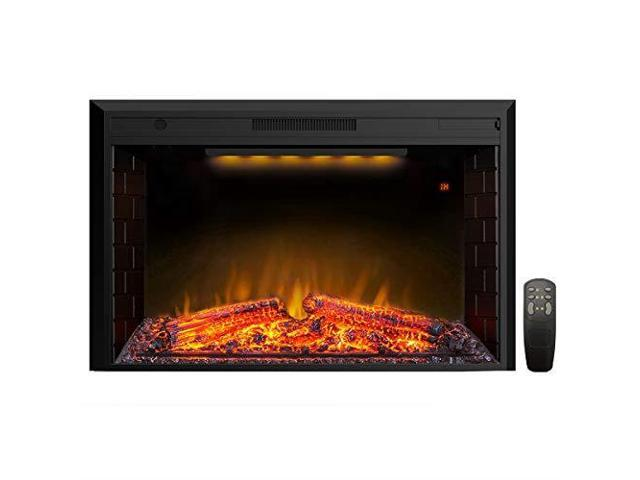 Incredible Houselux 30 Inches Fireplace Insert Electric Fireplace Heater With Log Speaker 1500W Remote Control Black Newegg Com Download Free Architecture Designs Barepgrimeyleaguecom