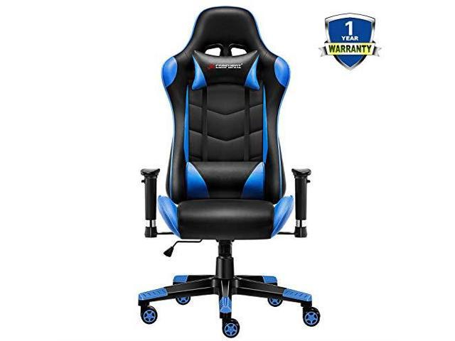 Astounding Gaming Chair Executive Office Chair Reclining Highback Ergonomic Pu Leather Desk Chair Racing Swivel Computer Chair With Adjustable Headrest And Ocoug Best Dining Table And Chair Ideas Images Ocougorg