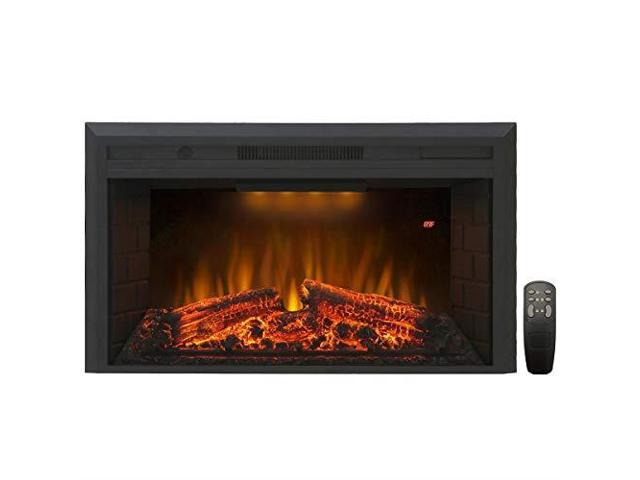 Superb Houselux 30 Inches Fireplace Insert Electric Fireplace Heater With Log Speaker 1500W Remote Control Black Newegg Com Download Free Architecture Designs Barepgrimeyleaguecom