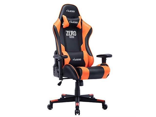Marvelous Musso Ergonomic Orange Gaming Chair Adjustable Esports Gamer Chair Adults Racing Video Game Chair Large Size Pu Leather Highback Executive Office Machost Co Dining Chair Design Ideas Machostcouk