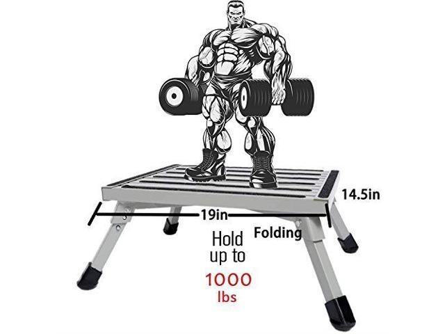 Fine Safety Rv Step Stool 19Quot X 145Quot Large Rv Step Stool Aluminum Folding Platform Step And Ladder With Nonslip Rubber Feet More Stable Supports Up Inzonedesignstudio Interior Chair Design Inzonedesignstudiocom