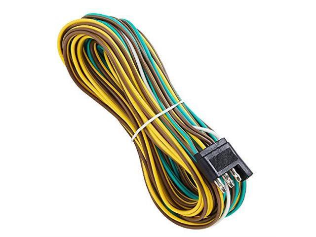 25 Foot 4 Wire 4Flat Trailer Light Wiring Harness Extension Kit 4Way  Pin Rv Wiring Harness on