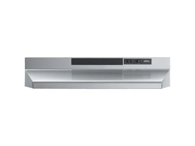 Broan-Nutone F402404 Convertible Range Hood Insert with Light, Exhaust Fan  for Under Cabinet, Stainless Steel, 160 CFM, 24\