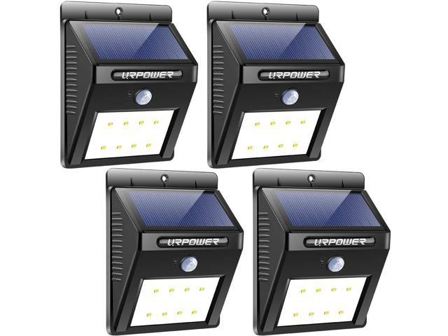Ur Solar Lights Wireless Waterproof Motion Sensor Outdoor Light For Patio Deck Yard Garden With Activated Auto On Off 4 Pack