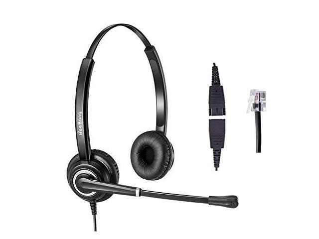Headset With Rj9 Jack For Landline Telephone Headset With Noise Cancelling Microphone For 6941 7841 7941 7942 7945 7960 7961 7962 7965 8845 8945 Newegg Com