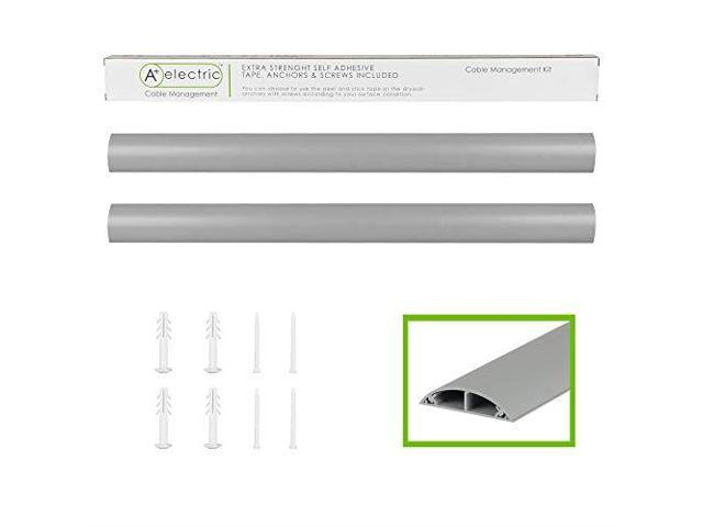 Cord Cover Wall Floor Cable Raceway Grey Cable Concealer Cable