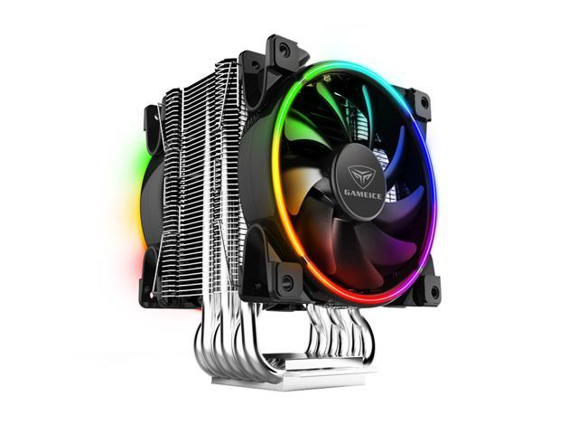 Exclusive support TR4/1011/2066 Platform ! PCCOOLER CORONA RGB GI-R68X- CPU Cooler with Dual 120mm PWM Fans   AURA 12V 4Pin