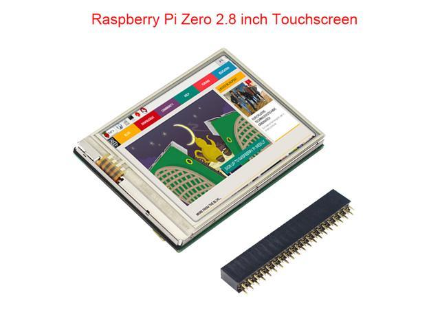 2 8 inch Raspberry Pi Zero Touch Screen 60 FPS HD LCD + GPIO Header for  Raspberry Pi Zero W / 1 3 Monitor 2 8