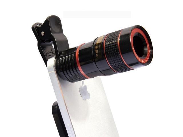 White 12x telescope zoom mobile phone lenses for iphone