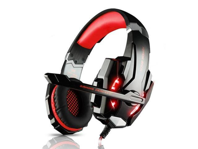 3 5mm Gaming Headphones Best Casque Gamer Headset Earphone With Mic Led Light Red Newegg Com