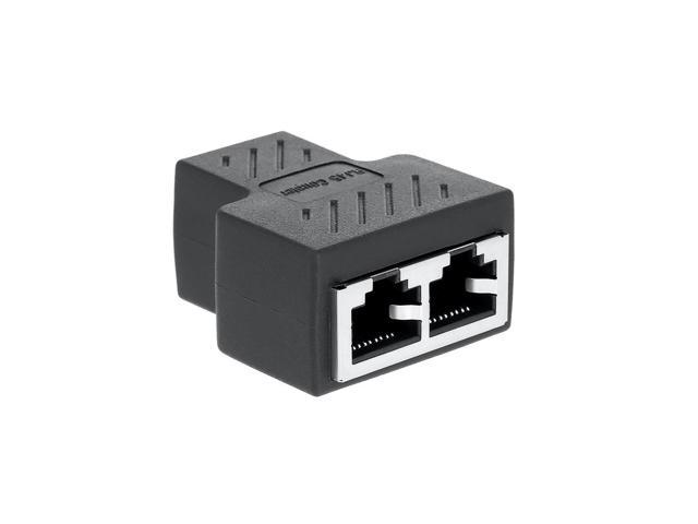 1 To 2 Ways RJ45 LAN Ethernet Network Cable Dual Splitter Connector Adapter