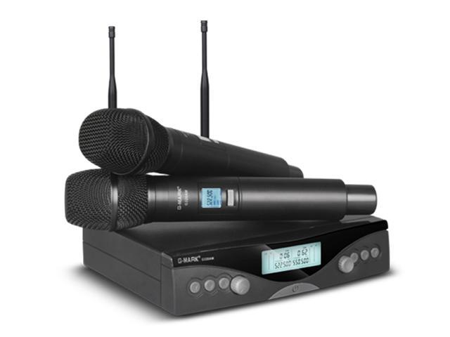 G-MARK G320AM Wireless Microphone System Professional UHF Automatic  Handheld microphone Frequency Adjustable 100M receive - Newegg com