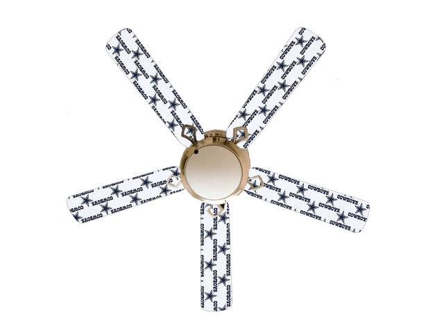 Dallas Cowboys Stars 52 Ceiling Fan With Lamp Newegg