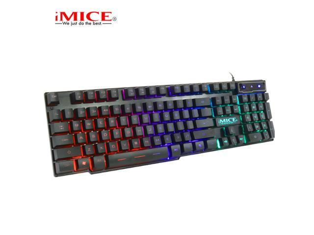 White Suspension keycap Game Competitive Mechanical Feel Metal Bottom Plate Orange Character Light USB Wired Keyboard Set