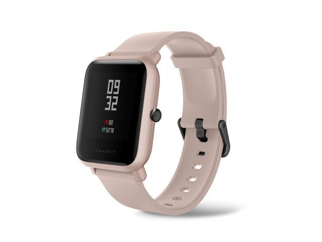 """Amazfit Bip Lite Smartwatch, 45-Day Battery Life, Heart Rate & Sleep Monitor, 1.2"""" Always-On Touchscreen, 3 ATM Water Resistant, Multisport Tracker, Pink"""