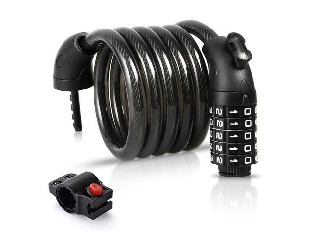 Reliable Bike Cable Basic Self Coiling Resettable Combination Cable Bike Locks