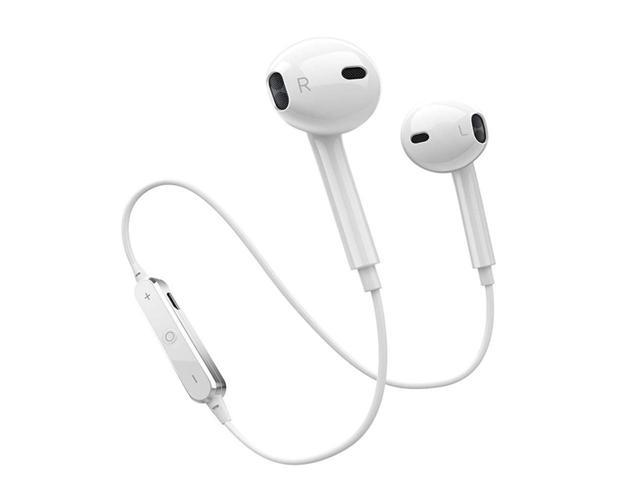 Wireless Bluetooth Headphones With Microphone Wireless Sport Earbuds Car Headset For Iphone Samsung And More Waterproof Earphones Noise Cancelling Headphones White Newegg Com