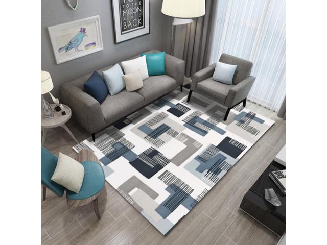 Home Cal Modern Non Slip Area Rug