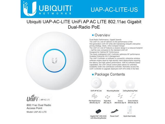 Ubiquiti Networks UAP-AC-LITE-US Dual-Radio Access Points (Single Pack) -  Newegg com