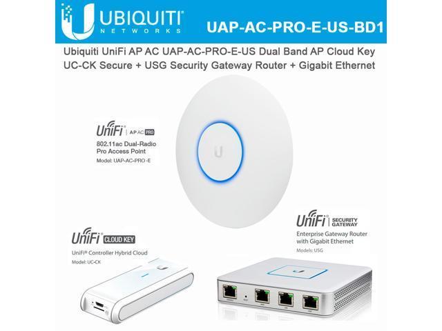 Ubiquiti UniFi AP AC PRO Access Point UAP-AC-PRO-E-US Wireless Dual Band AP  with Cloud Key UC-CK Secure and USG Security Gateway Router with Gigabit
