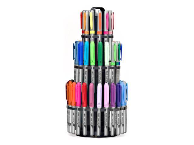 Bic Intensity Permanent Markers Storage Tower Fine And Ultra Fine Point 54 Count