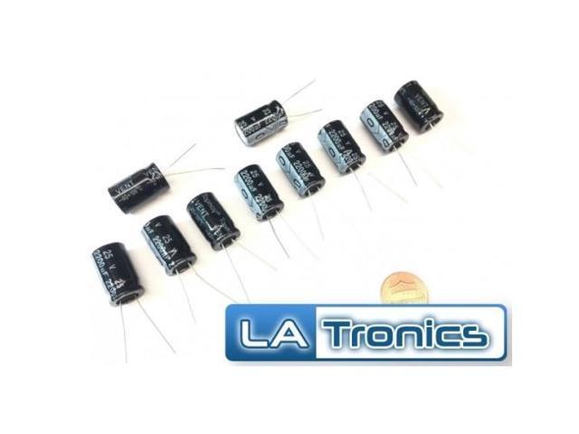 10pc Topmay Electrolytic Radial Aluminum Capacitor 2200uF 25V 13x21mm 105°C New