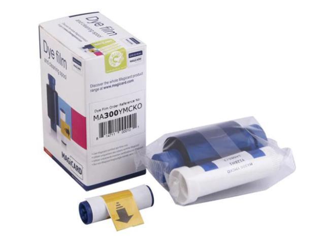 100 Prints NEW Genuine Fargo 45411 YMCKO Color Ribbon Refill