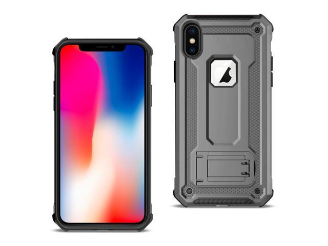 best sneakers 3713e 7e5d6 Reiko Apple iPhone XS Case With Kickstand In Gray - Newegg.com