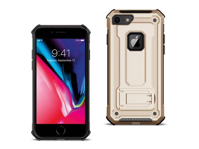 cheap for discount 8b076 34707 Reiko Apple iPhone 8 Case With Kickstand In Gold - Newegg.com