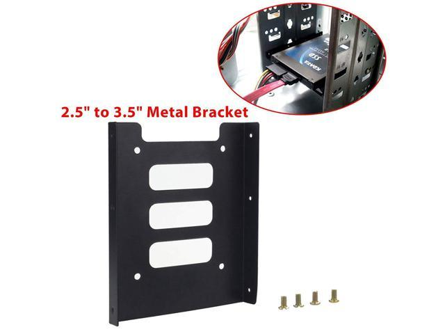 """2.5/"""" SSD HDD to 3.5/"""" Mounting Adapter Bracket Tray Dock for PC SSD Holder S*"""
