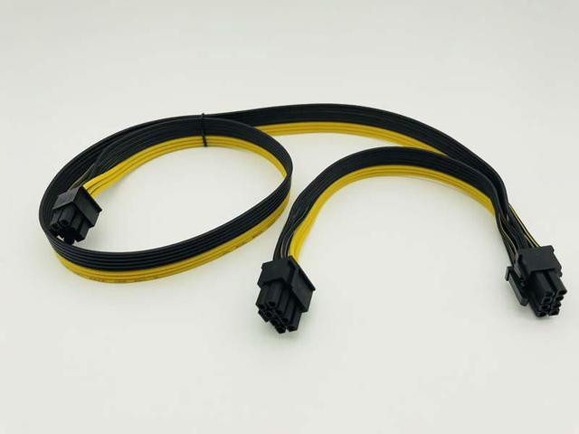 2Port PCI E PCI Express 6Pin Male to Dual 8Pin Male Adapter GPU Graphic  Card PCIe Power Cable 18AWG 60cm+20cm Wire for BTC Miner - Newegg com