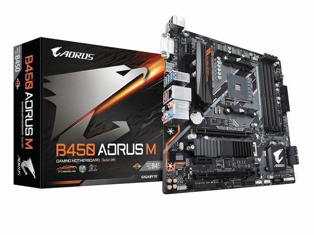 AMD Ryzen AM4//M.2//HMDI//DVI//USB 3.1//DDR4//Micro ATX//Motherboard GIGABYTE B450M DS3H Renewed