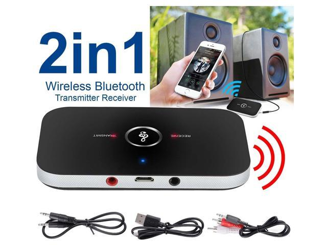 Bluetooth V4.2 Transmitter Receiver Wireless A2DP Audio Music 3.5mm Aux Adapter