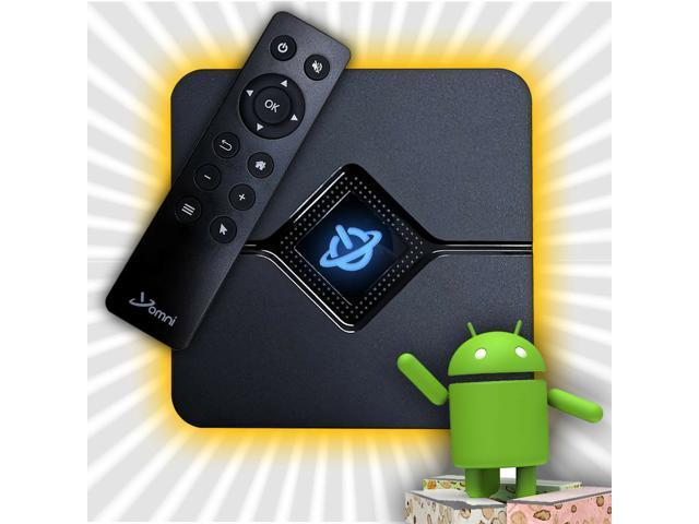 Omni 9X Core Mini PC Streaming Media Hub Device Android TV Box - 4K HD /  WiFi - Newegg com