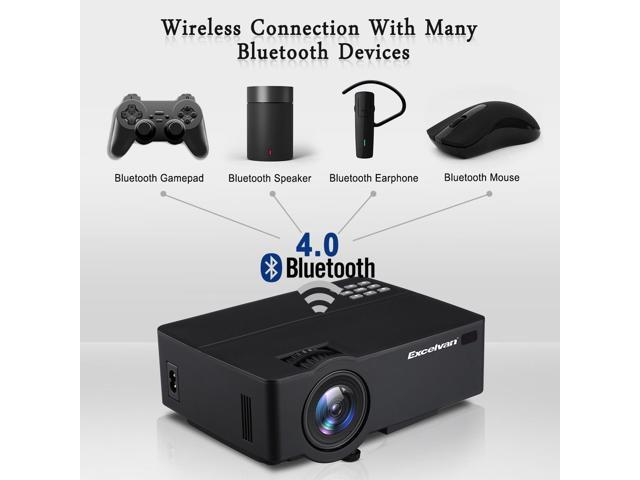4K HD 1080P Home Theater LED Android 6 0 Wifi Wireless Projector Bluetooth  HDMI - Newegg com